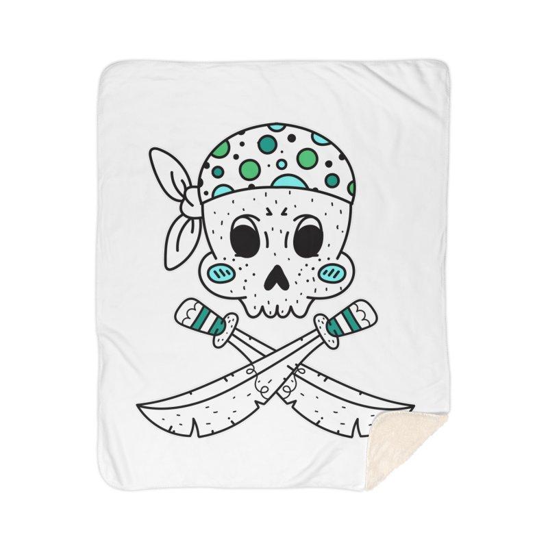 Skull Pirate Home Blanket by RockerByeDestash Market