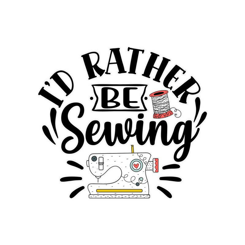 Id Rather be Sewing Women's T-Shirt by RockerByeDestash Market