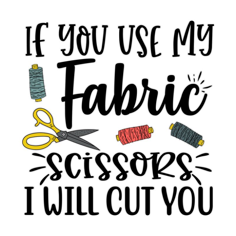 Fabric Scissors Ill Cut you Men's T-Shirt by RockerByeDestash Market