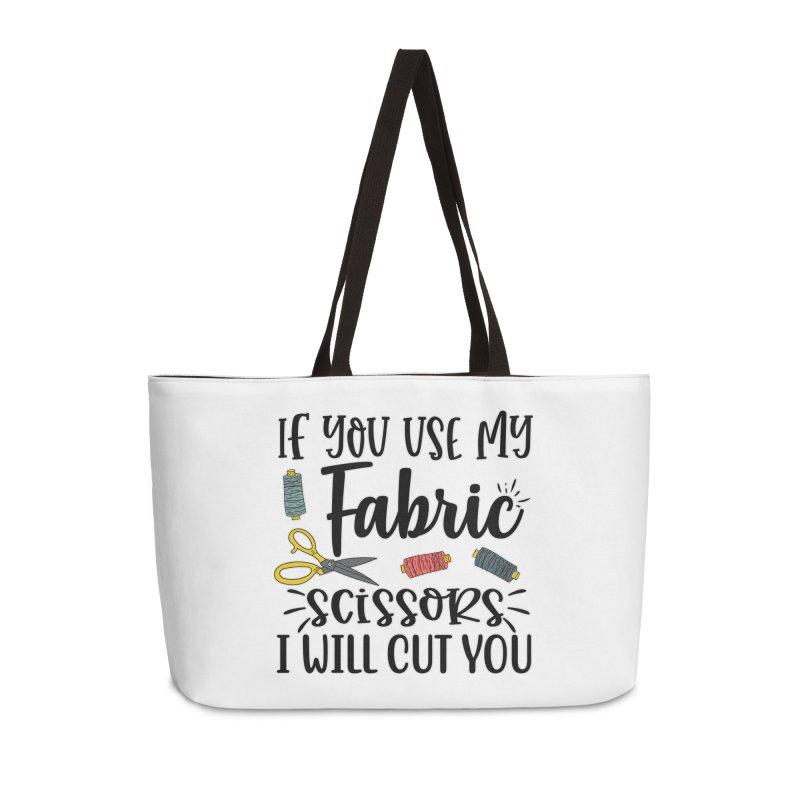 Fabric Scissors Ill Cut you Accessories Bag by RockerByeDestash Market