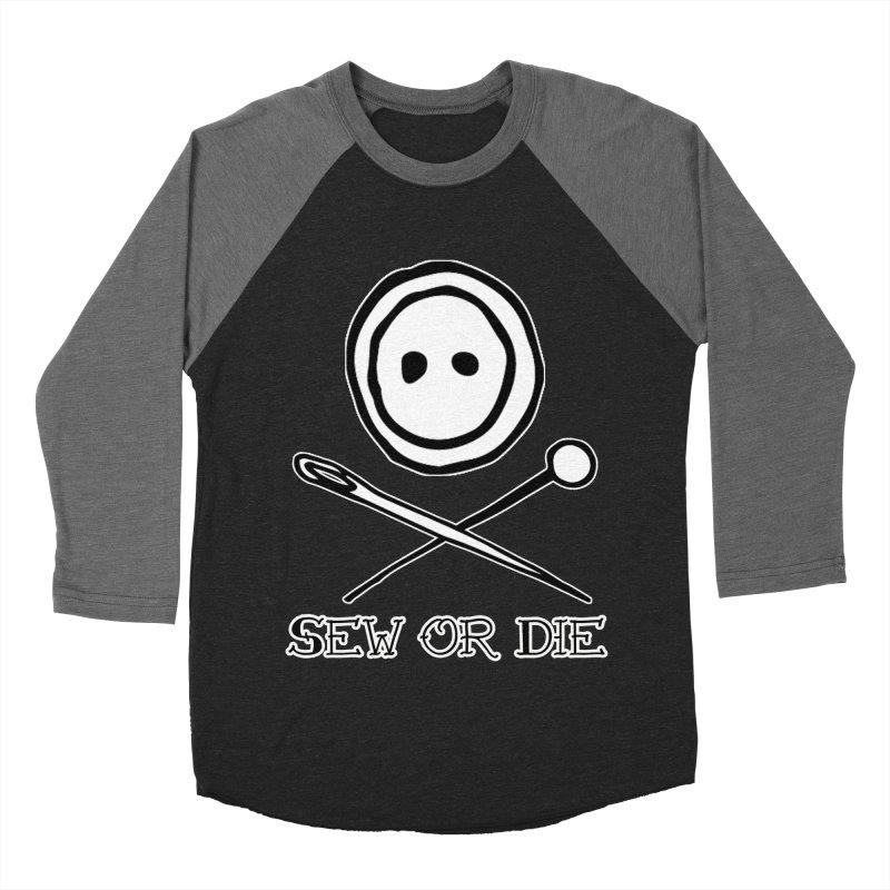 Sew or Die Women's Baseball Triblend Longsleeve T-Shirt by RockerByeDestash Market