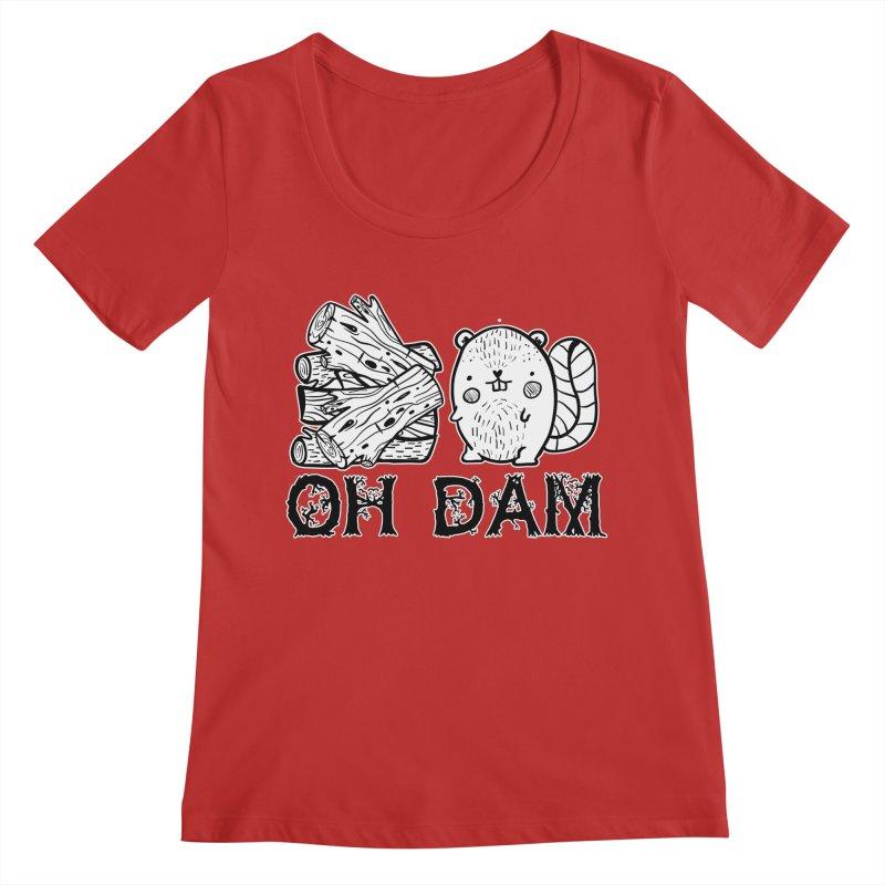 Oh Dam Women's Regular Scoop Neck by RockerByeDestash Market
