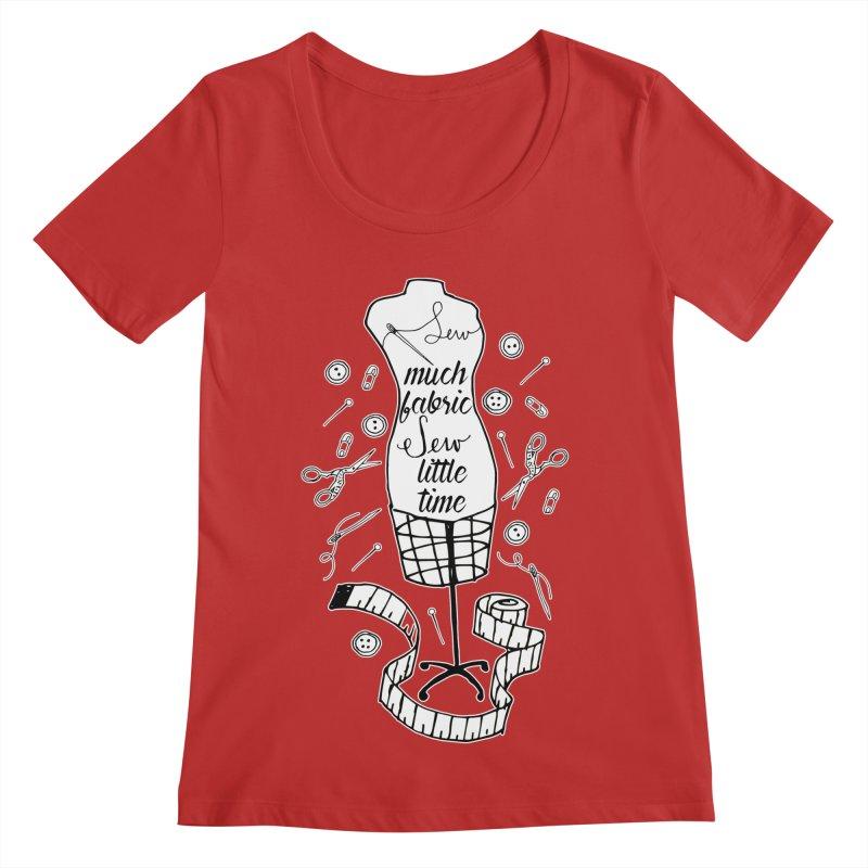 Sew Much Fabric Women's Regular Scoop Neck by RockerByeDestash Market