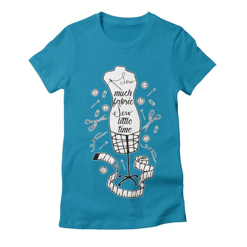 Sew Much Fabric Women's Fitted T-Shirt by RockerByeDestash Market