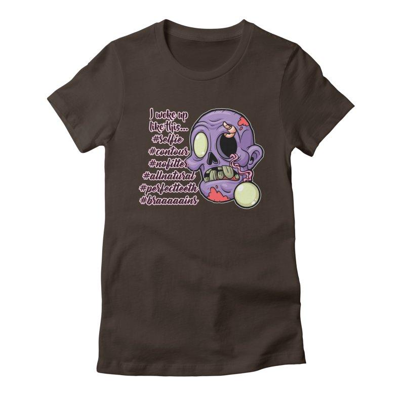 #zombie Women's Fitted T-Shirt by RockerByeDestash Market