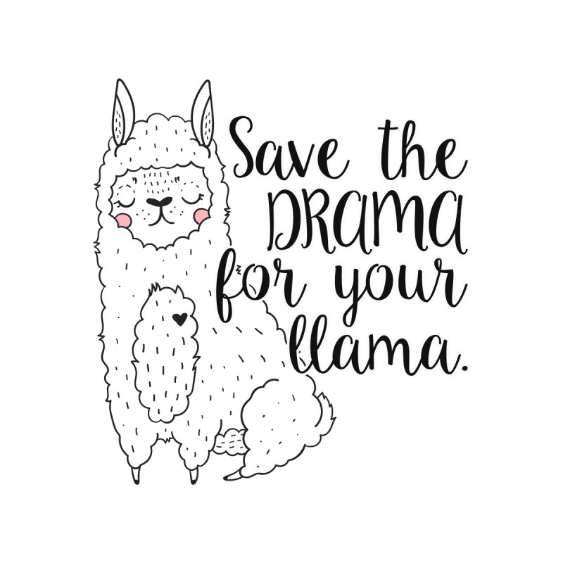 Drama llama Women's V-Neck by RockerByeDestash Market