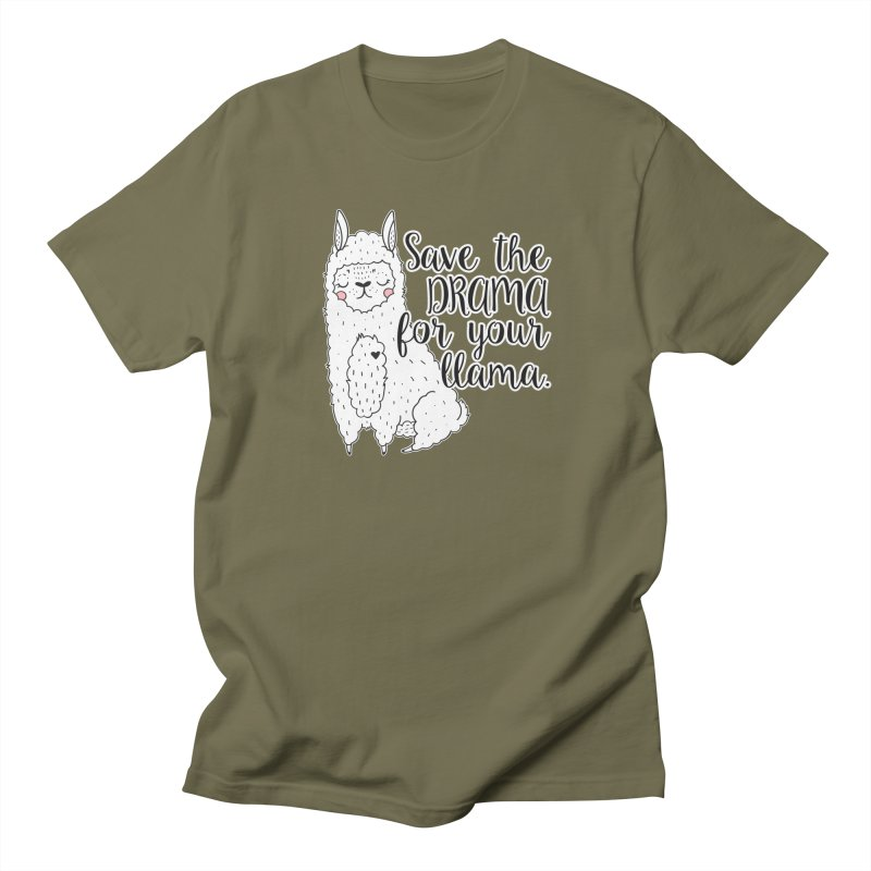 Drama llama Men's T-Shirt by RockerByeDestash Market