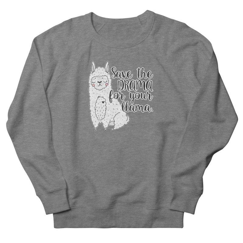 Drama llama Women's French Terry Sweatshirt by RockerByeDestash Market