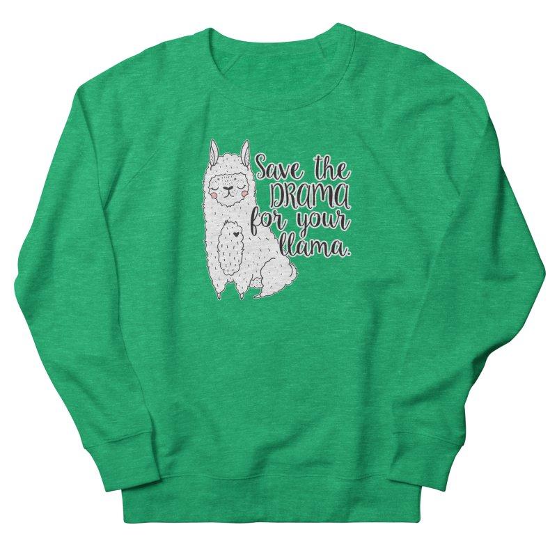 Drama llama Men's French Terry Sweatshirt by RockerByeDestash Market