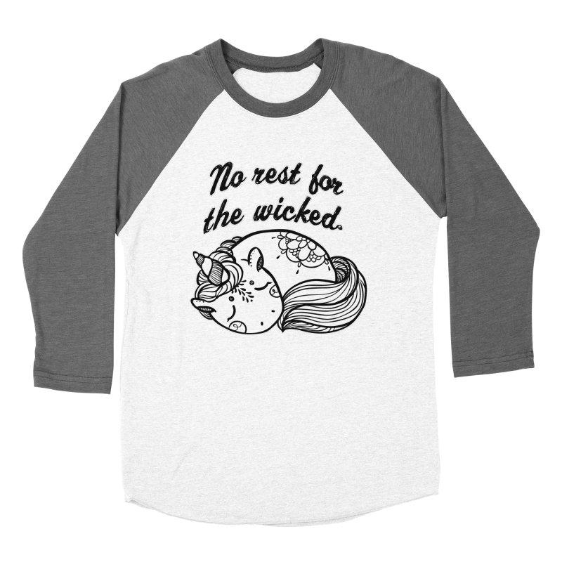No rest. Women's Baseball Triblend Longsleeve T-Shirt by RockerByeDestash Market