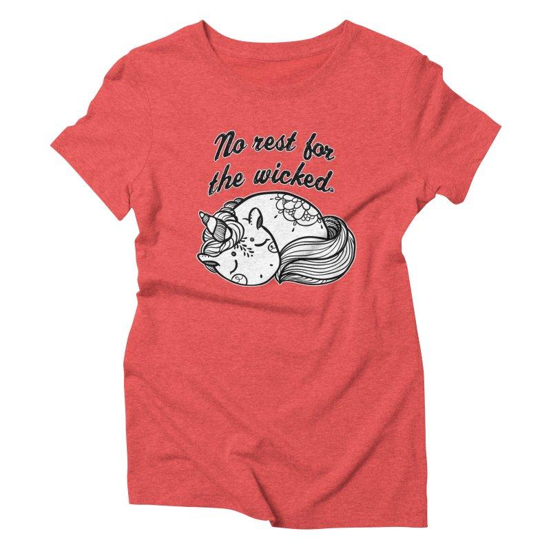 No rest. Women's Triblend T-Shirt by RockerByeDestash Market