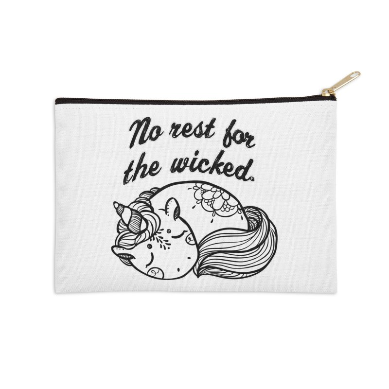 No rest. Accessories Zip Pouch by RockerByeDestash Market