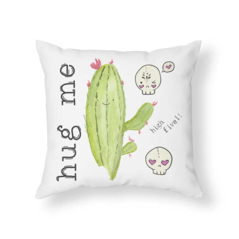 hug me. Home Throw Pillow by RockerByeDestash Market