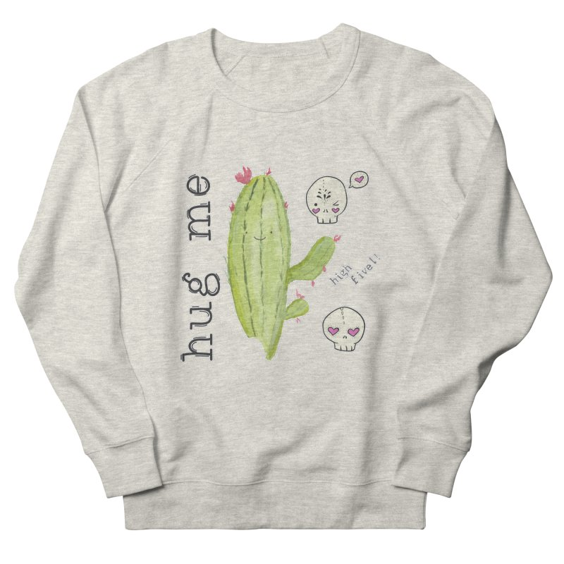 hug me. Women's French Terry Sweatshirt by RockerByeDestash Market