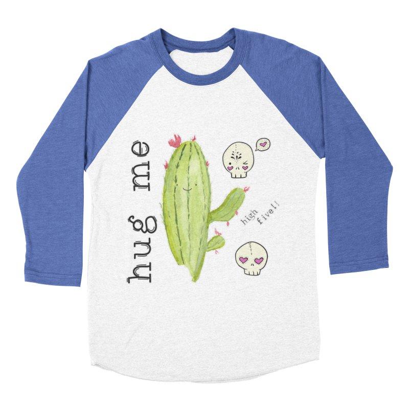 hug me. Women's Baseball Triblend Longsleeve T-Shirt by RockerByeDestash Market