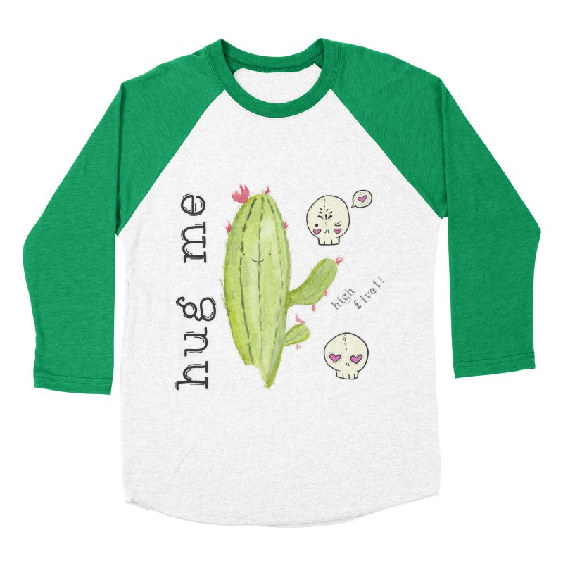 hug me. Men's Baseball Triblend Longsleeve T-Shirt by RockerByeDestash Market