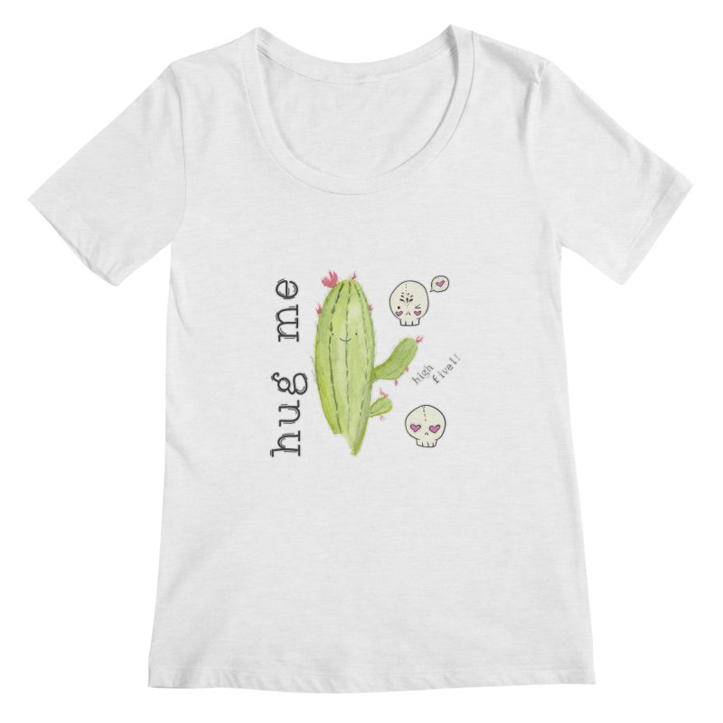 hug me. Women's Scoop Neck by RockerByeDestash Market