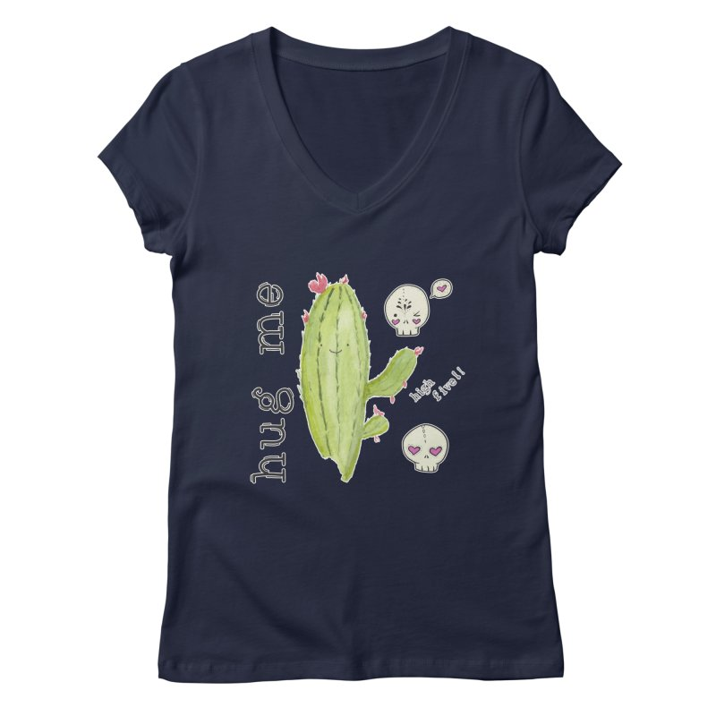 hug me. Women's V-Neck by RockerByeDestash Market