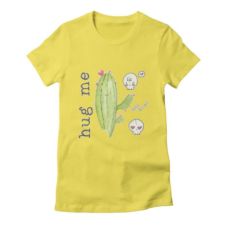 hug me. Women's T-Shirt by RockerByeDestash Market