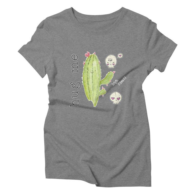 hug me. Women's Triblend T-Shirt by RockerByeDestash Market