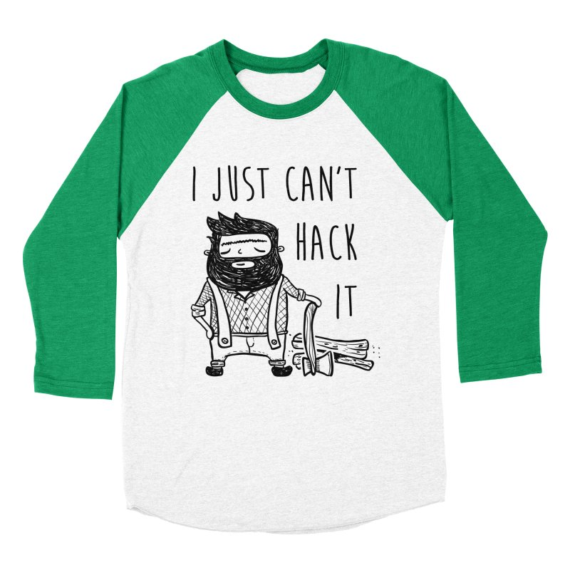 Can't Hack it Men's Baseball Triblend Longsleeve T-Shirt by RockerByeDestash Market