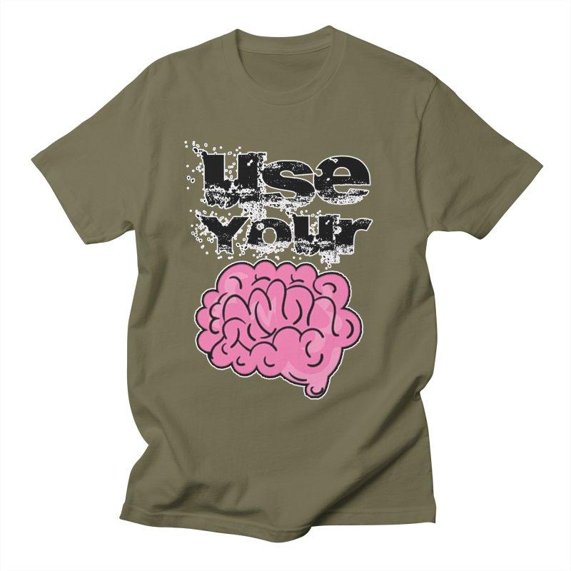 Use Your Brain Men's T-Shirt by RockerByeDestash Market