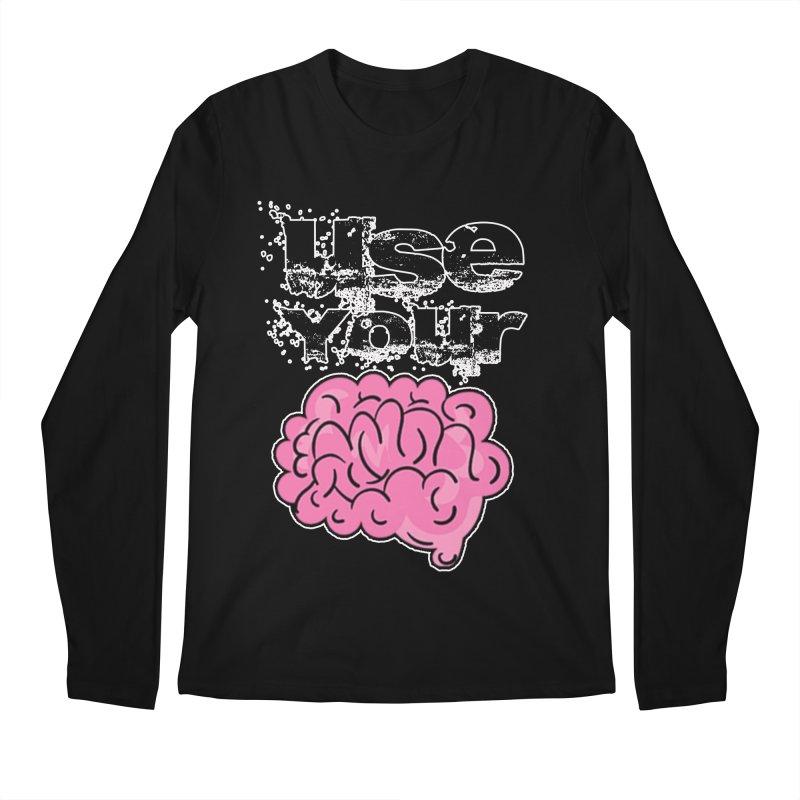 Use Your Brain Men's Regular Longsleeve T-Shirt by RockerByeDestash Market