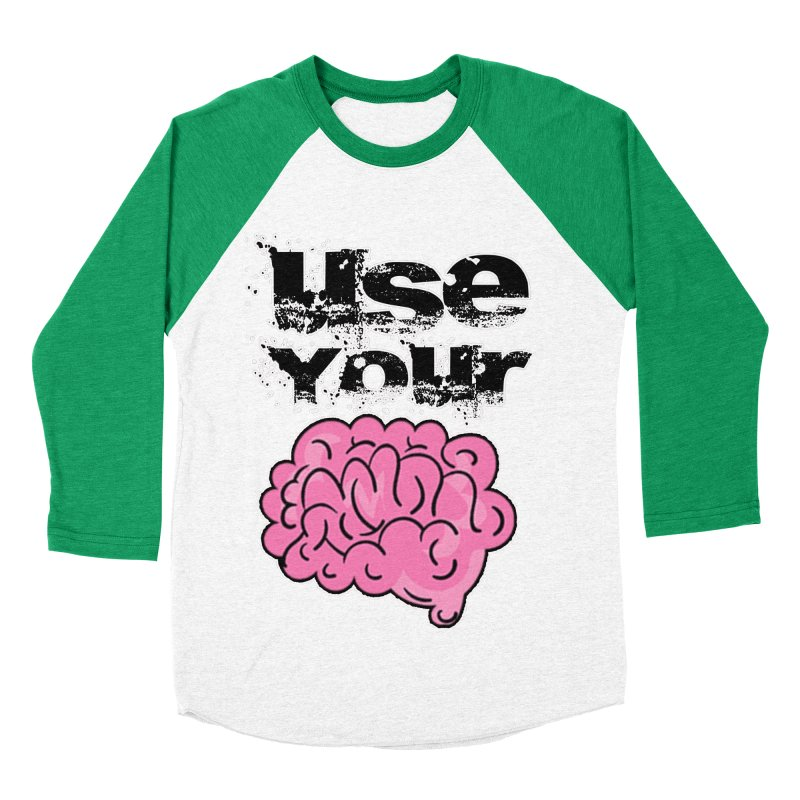 Use Your Brain Men's Baseball Triblend Longsleeve T-Shirt by RockerByeDestash Market