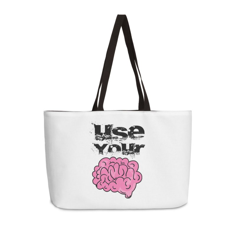 Use Your Brain Accessories Weekender Bag Bag by RockerByeDestash Market