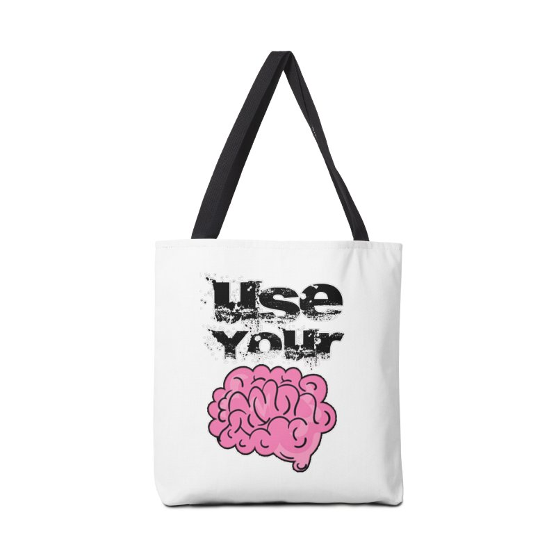 Use Your Brain Accessories Tote Bag Bag by RockerByeDestash Market