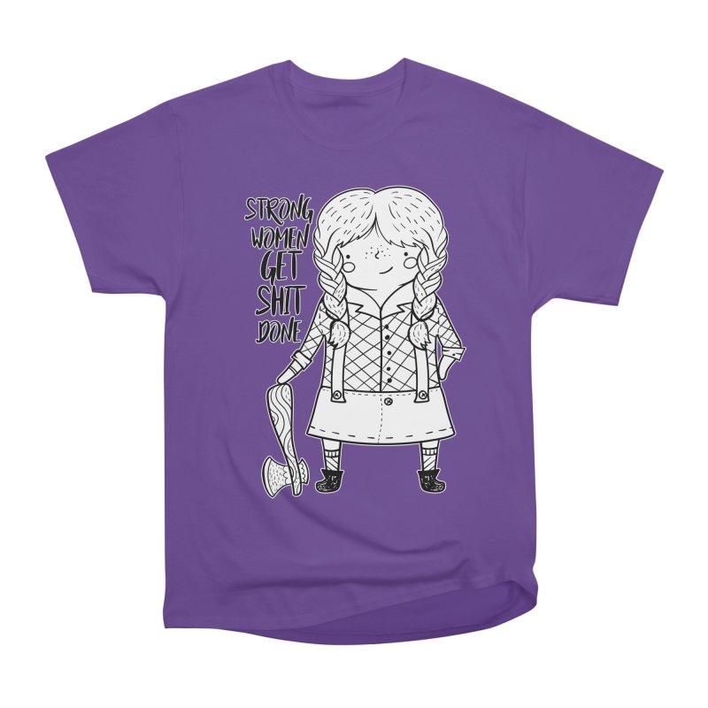 Strong Women Women's Heavyweight Unisex T-Shirt by RockerByeDestash Market