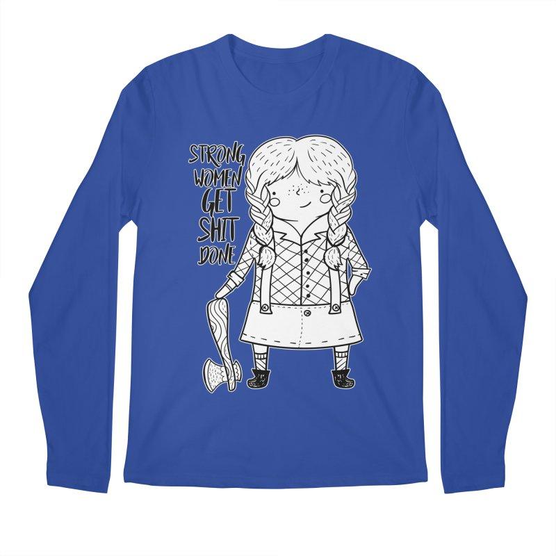 Strong Women Men's Regular Longsleeve T-Shirt by RockerByeDestash Market