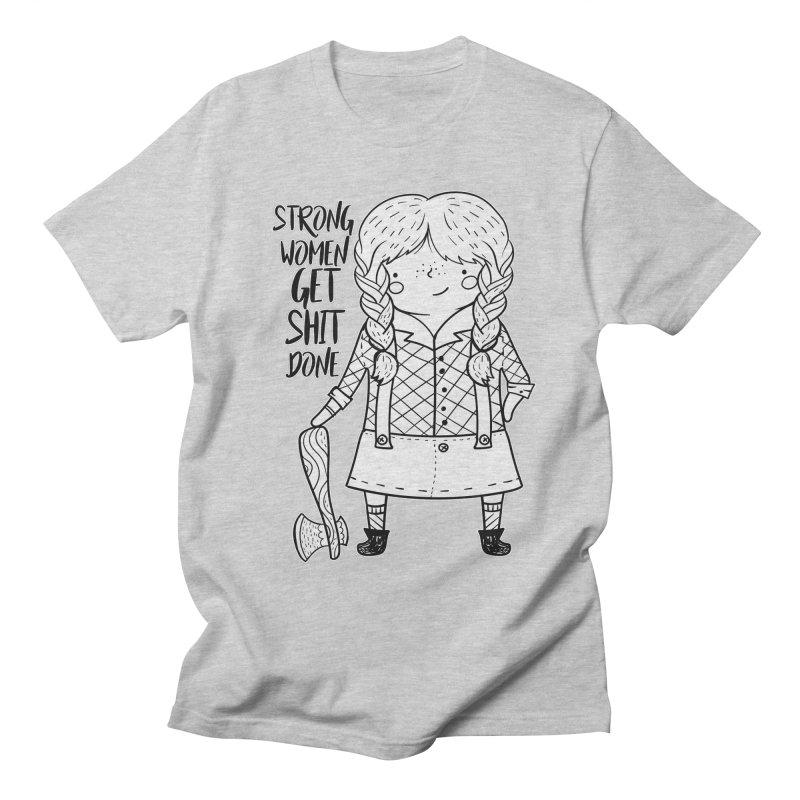 Strong Women Women's Regular Unisex T-Shirt by RockerByeDestash Market