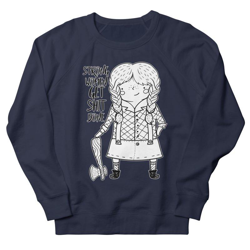 Strong Women Men's French Terry Sweatshirt by RockerByeDestash Market