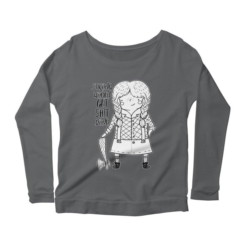 Strong Women Women's Longsleeve T-Shirt by RockerByeDestash Market