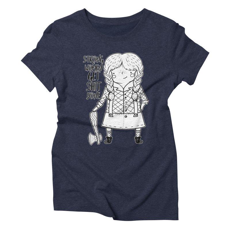 Strong Women Women's Triblend T-Shirt by RockerByeDestash Market