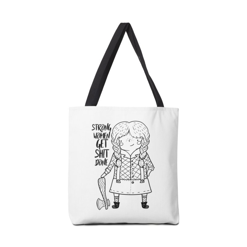 Strong Women Accessories Tote Bag Bag by RockerByeDestash Market