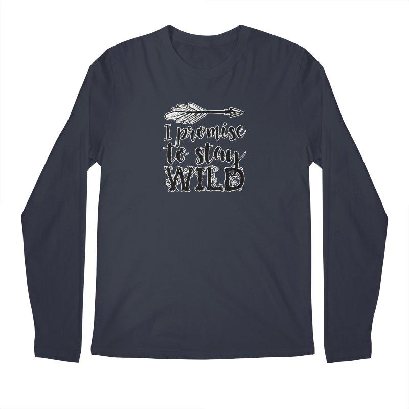 Stay Wild Men's Regular Longsleeve T-Shirt by RockerByeDestash Market