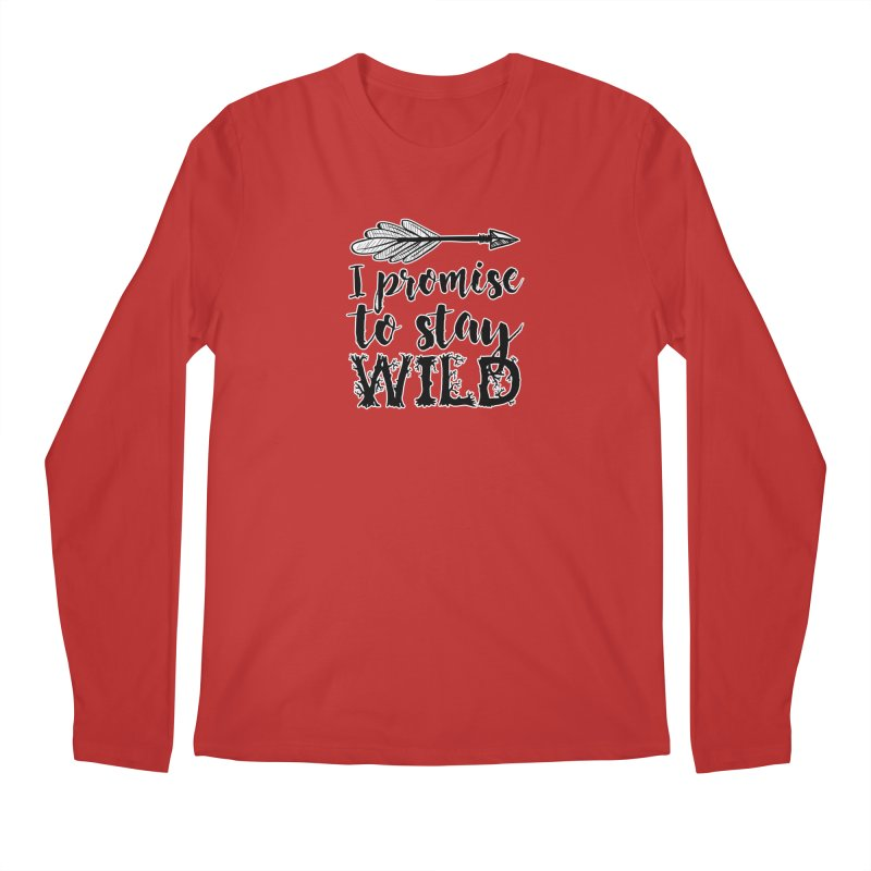 Stay Wild Men's Regular Longsleeve T-Shirt by RockerByeDestash Market