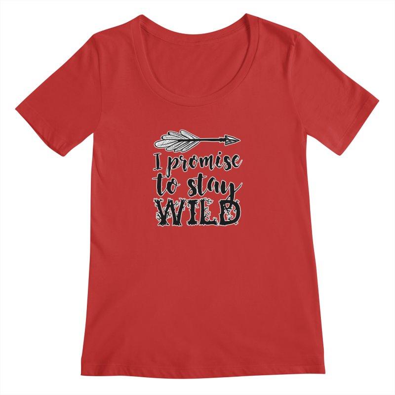 Stay Wild Women's Regular Scoop Neck by RockerByeDestash Market