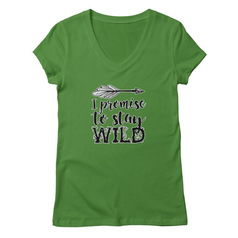 Stay Wild Women's Regular V-Neck by RockerByeDestash Market