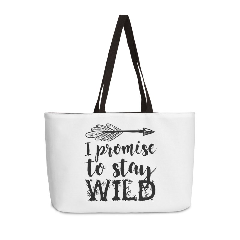 Stay Wild Accessories Weekender Bag Bag by RockerByeDestash Market