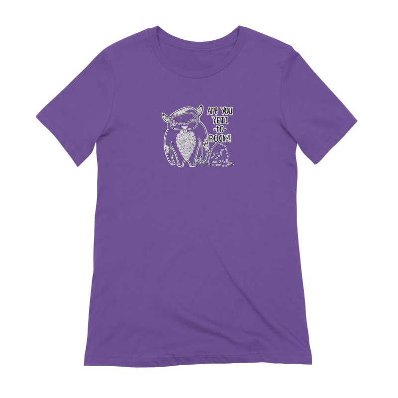 Yeti to Rock Women's Extra Soft T-Shirt by RockerByeDestash Market
