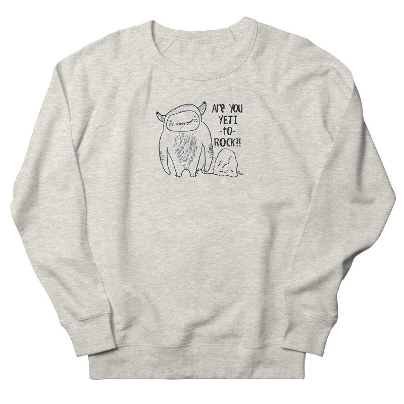 Yeti to Rock Men's French Terry Sweatshirt by RockerByeDestash Market