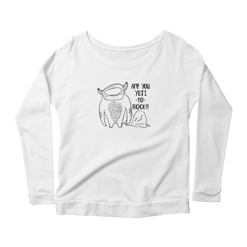 Yeti to Rock Women's Scoop Neck Longsleeve T-Shirt by RockerByeDestash Market