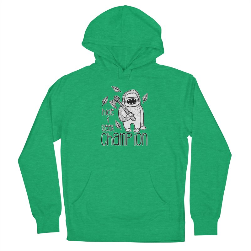 Hide and Seek Champ Men's French Terry Pullover Hoody by RockerByeDestash Market