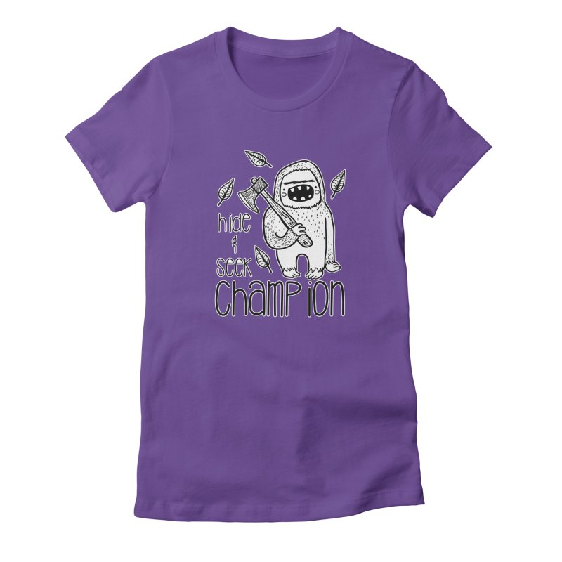 Hide and Seek Champ Women's Fitted T-Shirt by RockerByeDestash Market