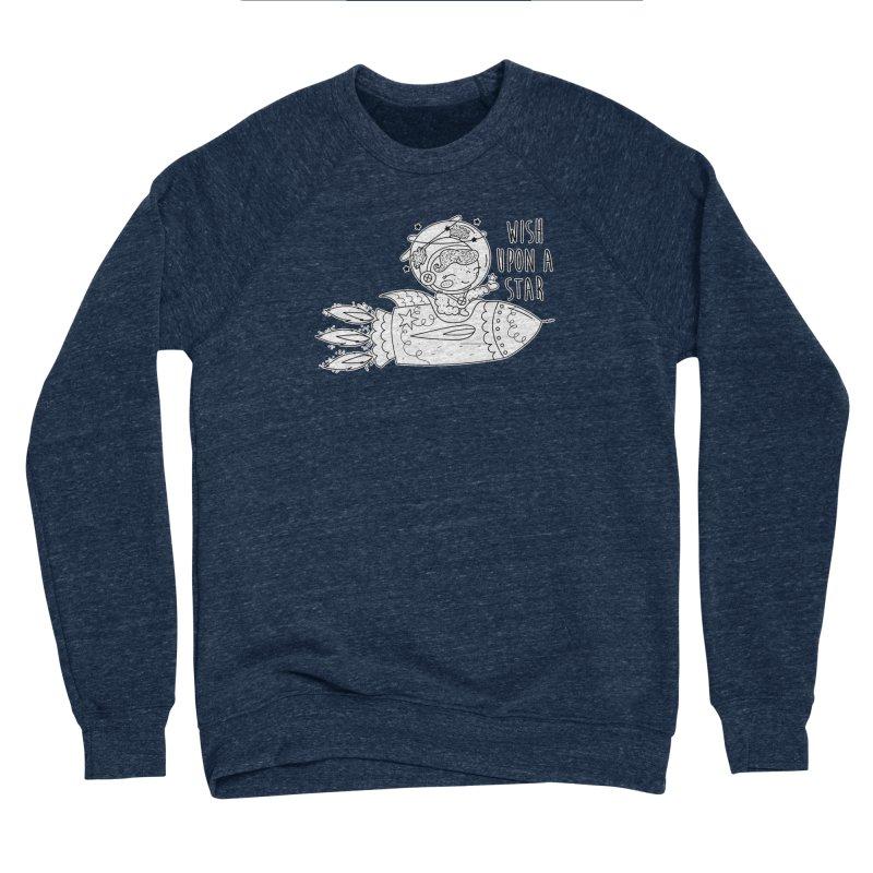 Rocket Girl Men's Sponge Fleece Sweatshirt by RockerByeDestash Market