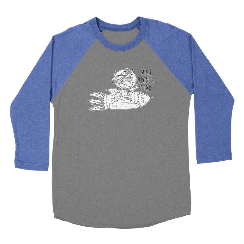 Rocket Girl Men's Baseball Triblend Longsleeve T-Shirt by RockerByeDestash Market