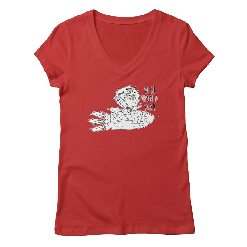 Rocket Girl Women's V-Neck by RockerByeDestash Market